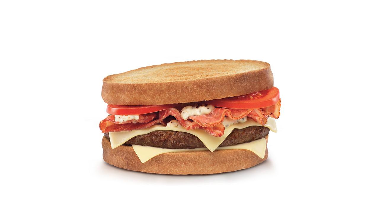 réalisation du stylisme culinaire pour un burger de Quick